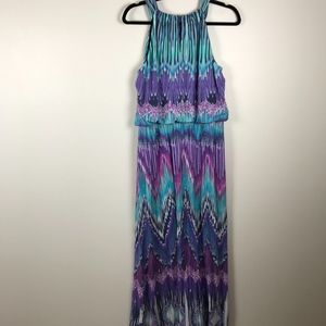Chicos Chevron Print Maxi Dress